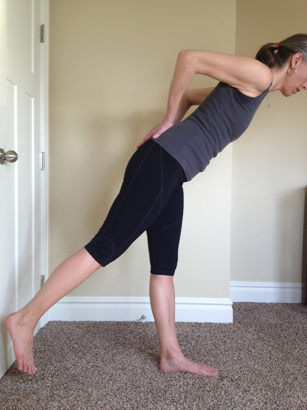 Hip strengthening: standing arabesque